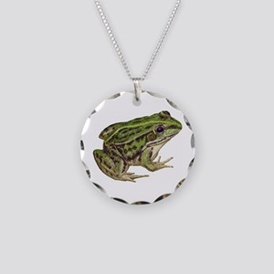 Frog Necklace Circle Charm