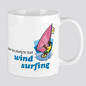 Never Too Young to Start Wind Surfing Mug
