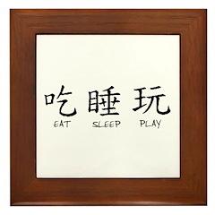 Eat Sleep Play Framed Tile