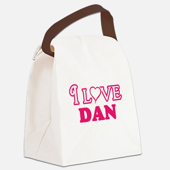 I Love Dan Canvas Lunch Bag