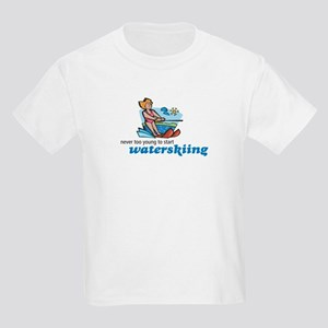 Never Too Young to Start Waterskiing Kids T-Shirt