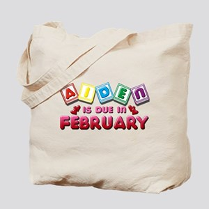 Aiden is Due in February Tote Bag