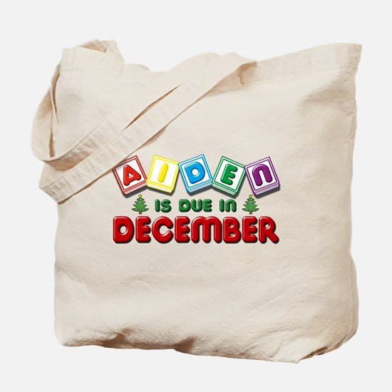 Aiden is Due in December Tote Bag