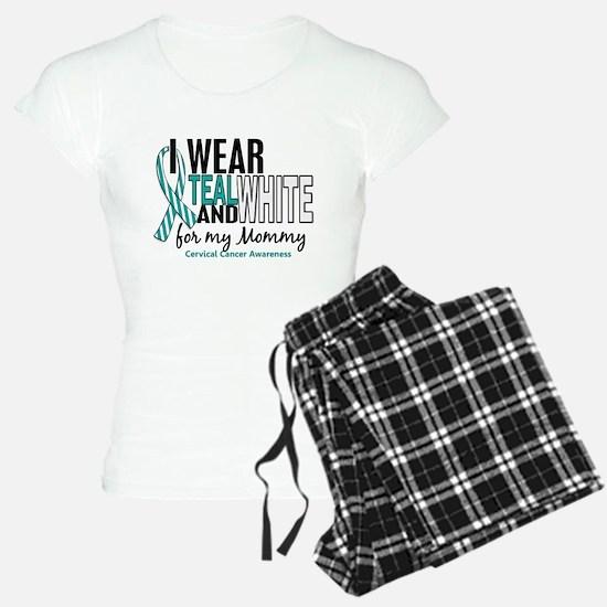 I Wear Teal White 10 Cervical Cancer Pajamas