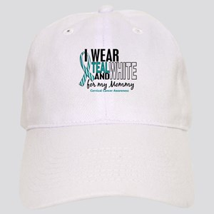 I Wear Teal White 10 Cervical Cancer Cap