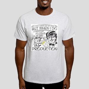 Nerdy Test Coder Light T-Shirt