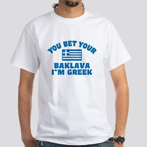 Funny Greek Baklava White T-Shirt