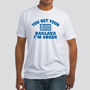 Funny Greek Baklava Fitted T-Shirt