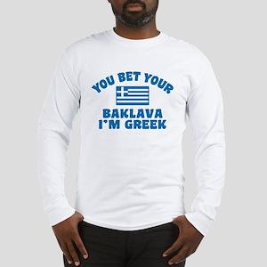 Funny Greek Baklava Long Sleeve T-Shirt