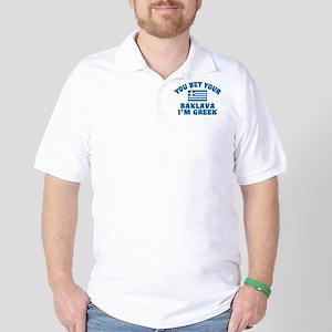 Funny Greek Baklava Golf Shirt