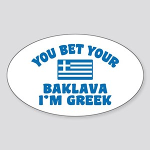 Funny Greek Baklava Sticker (Oval)