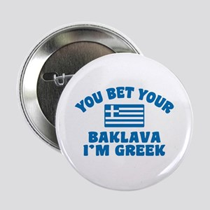 "Funny Greek Baklava 2.25"" Button"