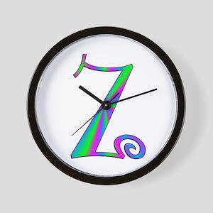 Z Monogram Wall Clock