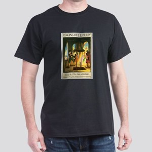 Philadelphia Pennsylvania (Front) Black T-Shirt