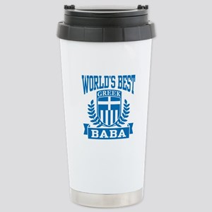 World's Best Greek Baba Stainless Steel Travel Mug