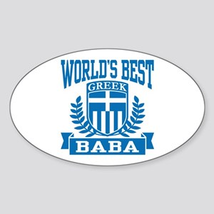 World's Best Greek Baba Sticker (Oval)