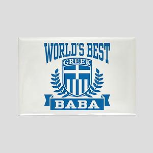 World's Best Greek Baba Rectangle Magnet
