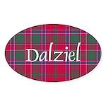 Tartan - Dalziel Sticker (Oval)