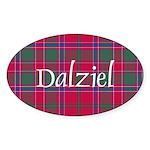 Tartan - Dalziel Sticker (Oval 50 pk)