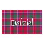 Tartan - Dalziel Sticker (Rectangle)