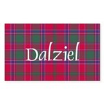 Tartan - Dalziel Sticker (Rectangle 10 pk)