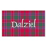 Tartan - Dalziel Sticker (Rectangle 50 pk)