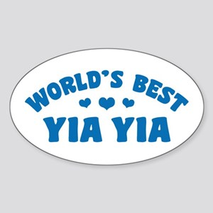 World's Best Yia Yia Sticker (Oval)