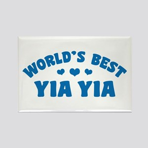 World's Best Yia Yia Rectangle Magnet