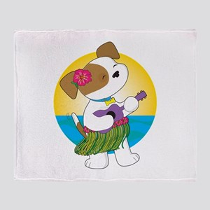 Cute Puppy Hawaii Throw Blanket