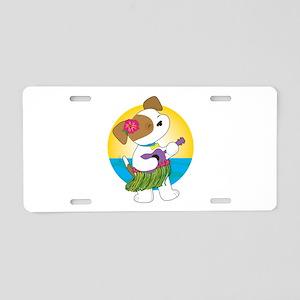 Cute Puppy Hawaii Aluminum License Plate