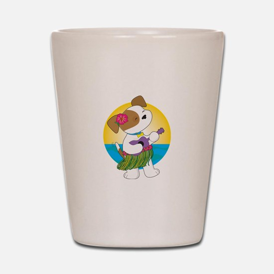 Cute Puppy Hawaii Shot Glass