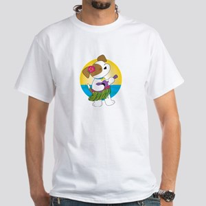 Cute Puppy Hawaii White T-Shirt