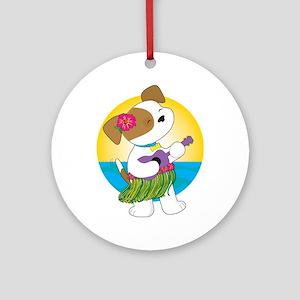 Cute Puppy Hawaii Ornament (Round)