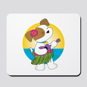 Cute Puppy Hawaii Mousepad