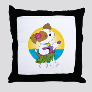 Cute Puppy Hawaii Throw Pillow