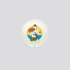 Cute Puppy Hawaii Mini Button