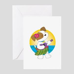 Cute Puppy Hawaii Greeting Card