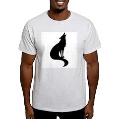 Black Wolf Ash Grey T-Shirt