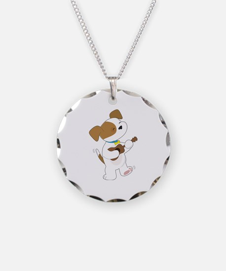 Cute Puppy Ukulele Necklace