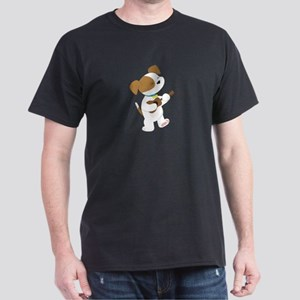 Cute Puppy Ukulele Dark T-Shirt