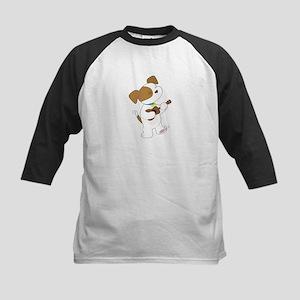 Cute Puppy Ukulele Kids Baseball Jersey