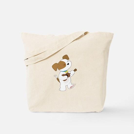 Cute Puppy Ukulele Tote Bag