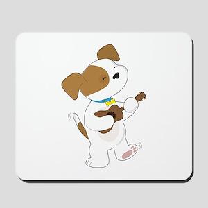 Cute Puppy Ukulele Mousepad