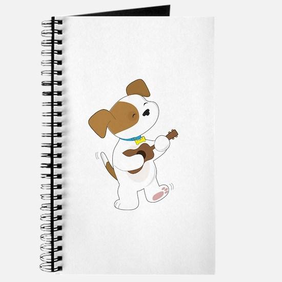 Cute Puppy Ukulele Journal