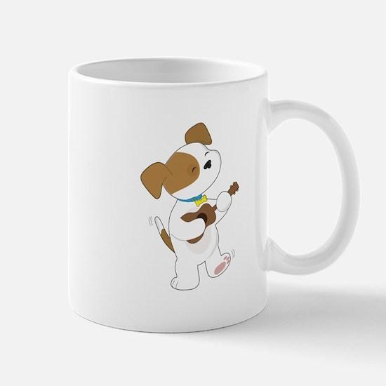 Cute Puppy Ukulele Mug