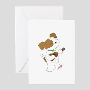 Cute Puppy Ukulele Greeting Card