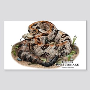 Timber or Canebrake Rattlesnake Sticker (Rectangle
