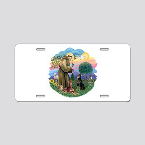 StFrancis(ff)-Two Dobies Aluminum License Plate