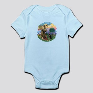 StFrancis(ff)-Two Dobies Infant Bodysuit