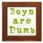 Boys are Dumb Framed Tile